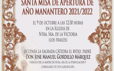 Santa Misa apertura Año Manantero 2021/2022